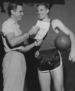 1 Chuck - Student aby 1957 Central HS w. Coach Frank Howe