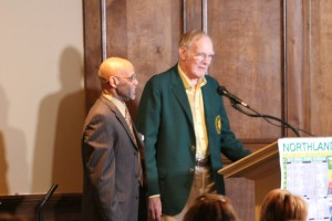 Chuck introducing his first champion wrestler, 1968 East High State Champ Ralph Cox